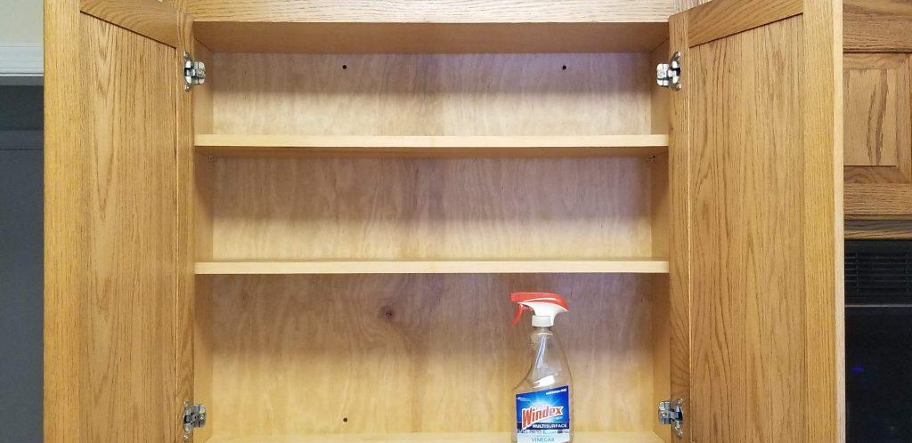 clean empty spice cupboard