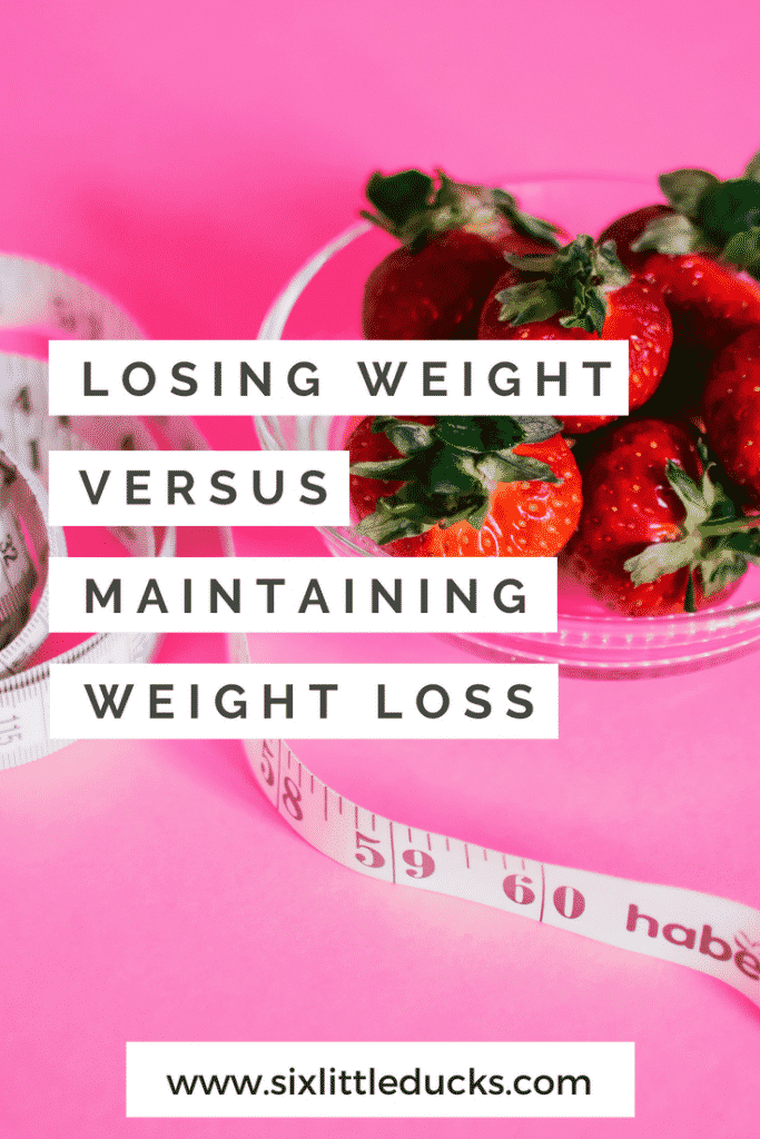 Losing weight versus maintaining weight loss