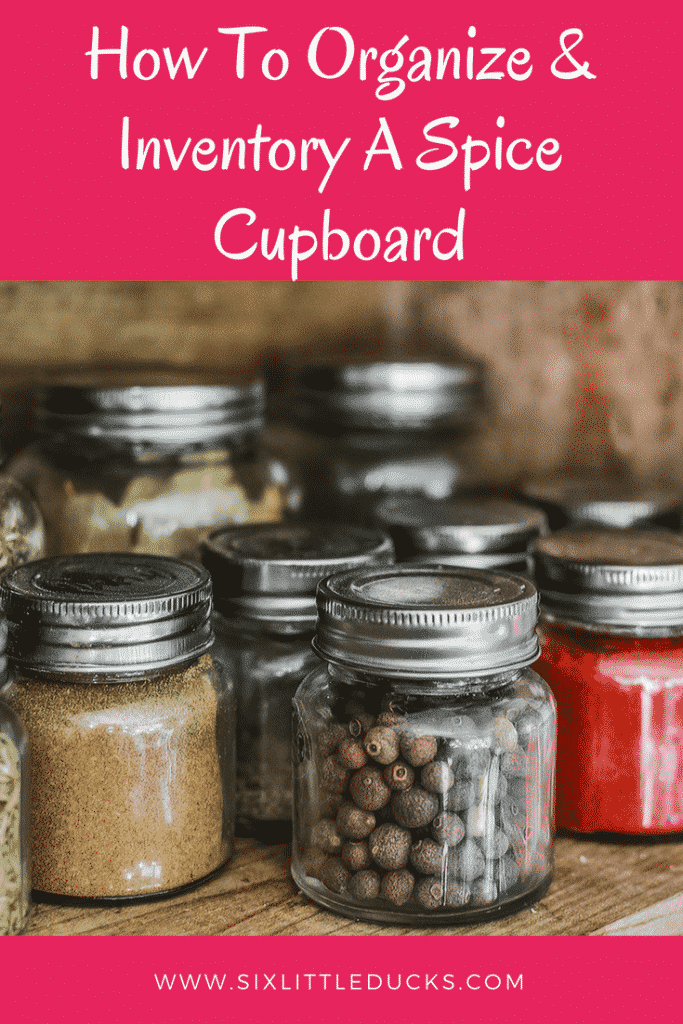 How to Organize and Inventory a Spice Cupboard #organization #pantryorganization #spicecupboard