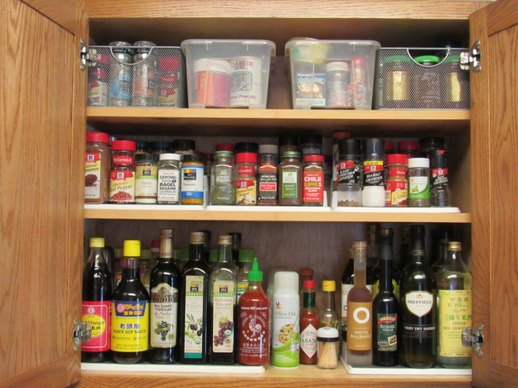 This is the finished, organized cabinet with everything in its place.