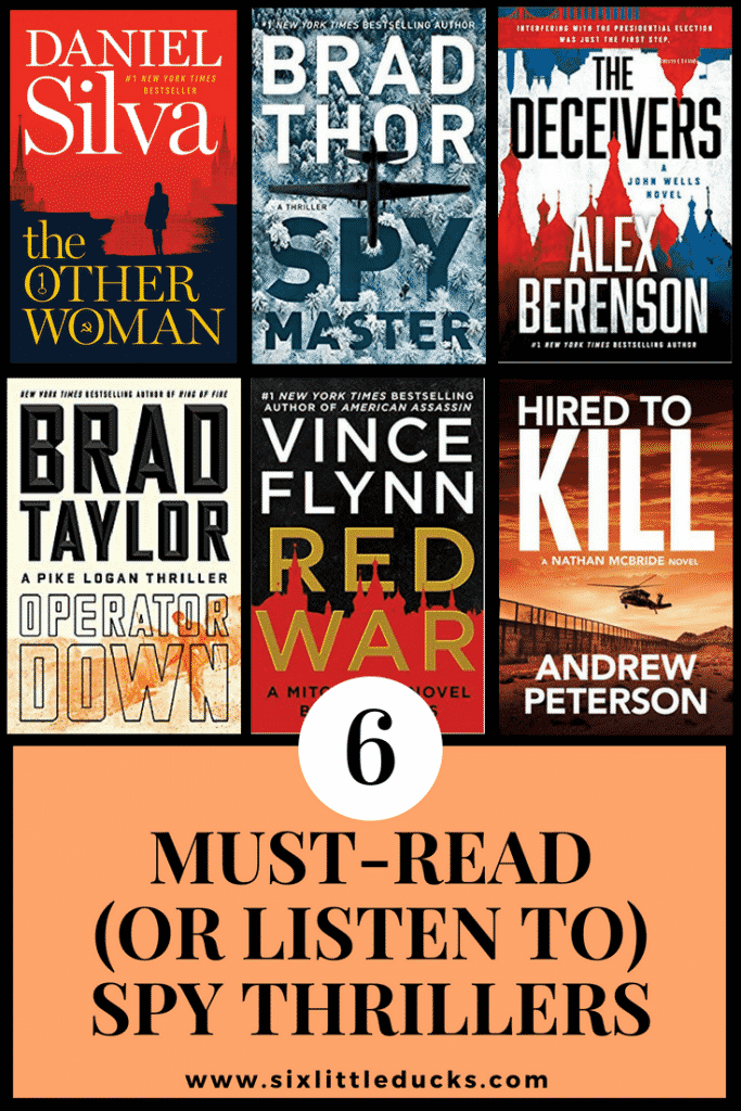 6 must-read or listen to spy thrillers