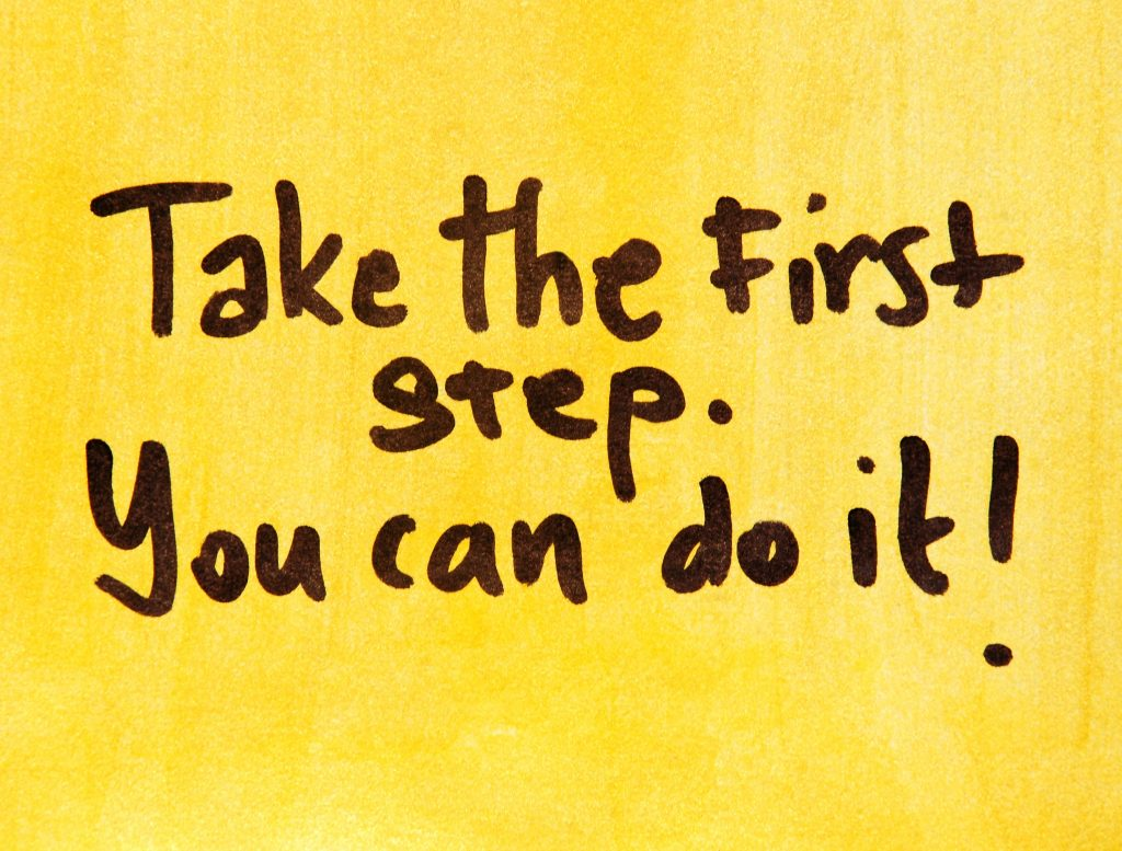 Taking that First Step!
