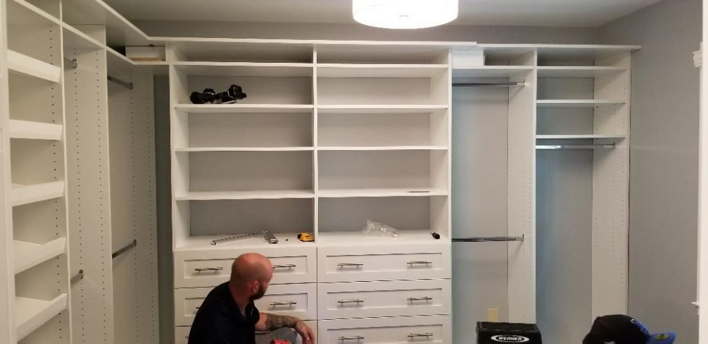 Drawers being added to dressers