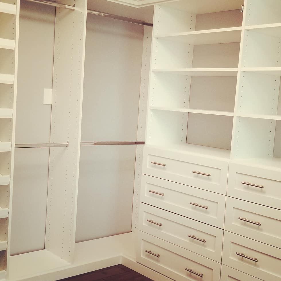 Plenty of short hanging space in dream closet