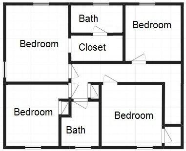 Original second floor layout