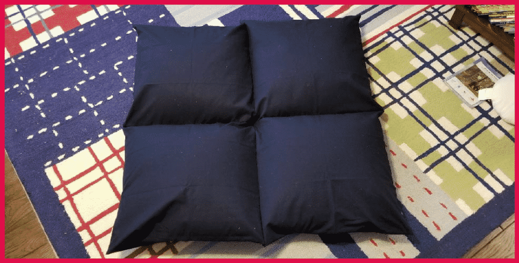 completed giant pillow