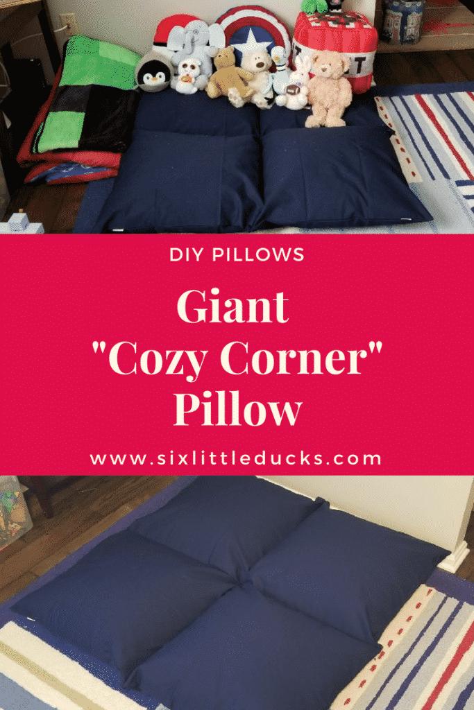 How To Make a Giant Cozy Corner Pillow - DIY Pillows