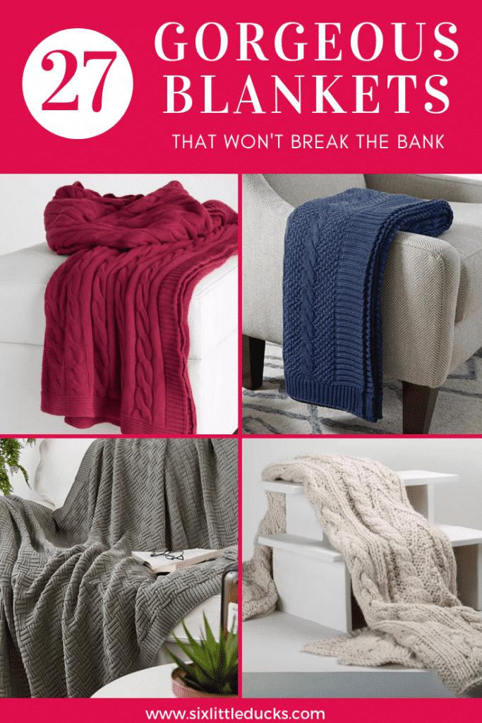 27 Gorgeous Blankets that won't break the bank