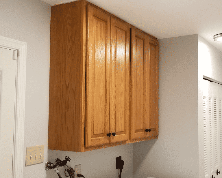 My Laundry Room Cabinet Makeover