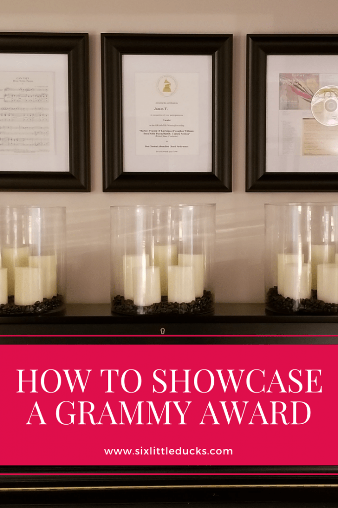 How to showcase a Grammy Award