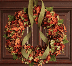 Etsy Fall Blended Hydrangea Wreath