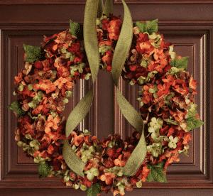Etsy Fall Blended Hydrangea Wreath