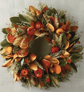 Harry & David Magnolia Quince Wreath