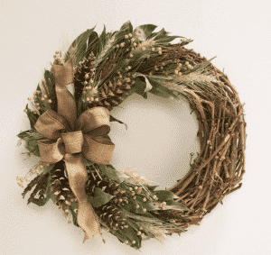 Plow & Hearth Harvest Pine Cone Wreaths