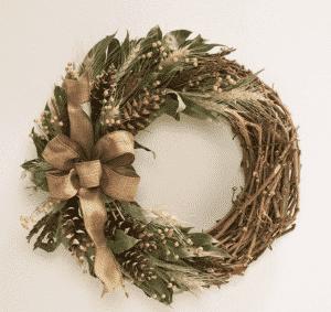 Plow & Hearth Harvest Pine Cone Wreaths