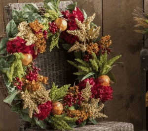 "Wayfair Pomegranate Harvest Floral 28"" Wreath"