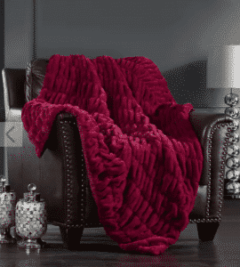 Pier 1 Red Aio Throw Blanket