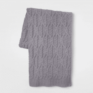 Knit Chunky Chenille Throw Blanket