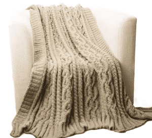 Shibles Knitted Luxury Chenille Throw