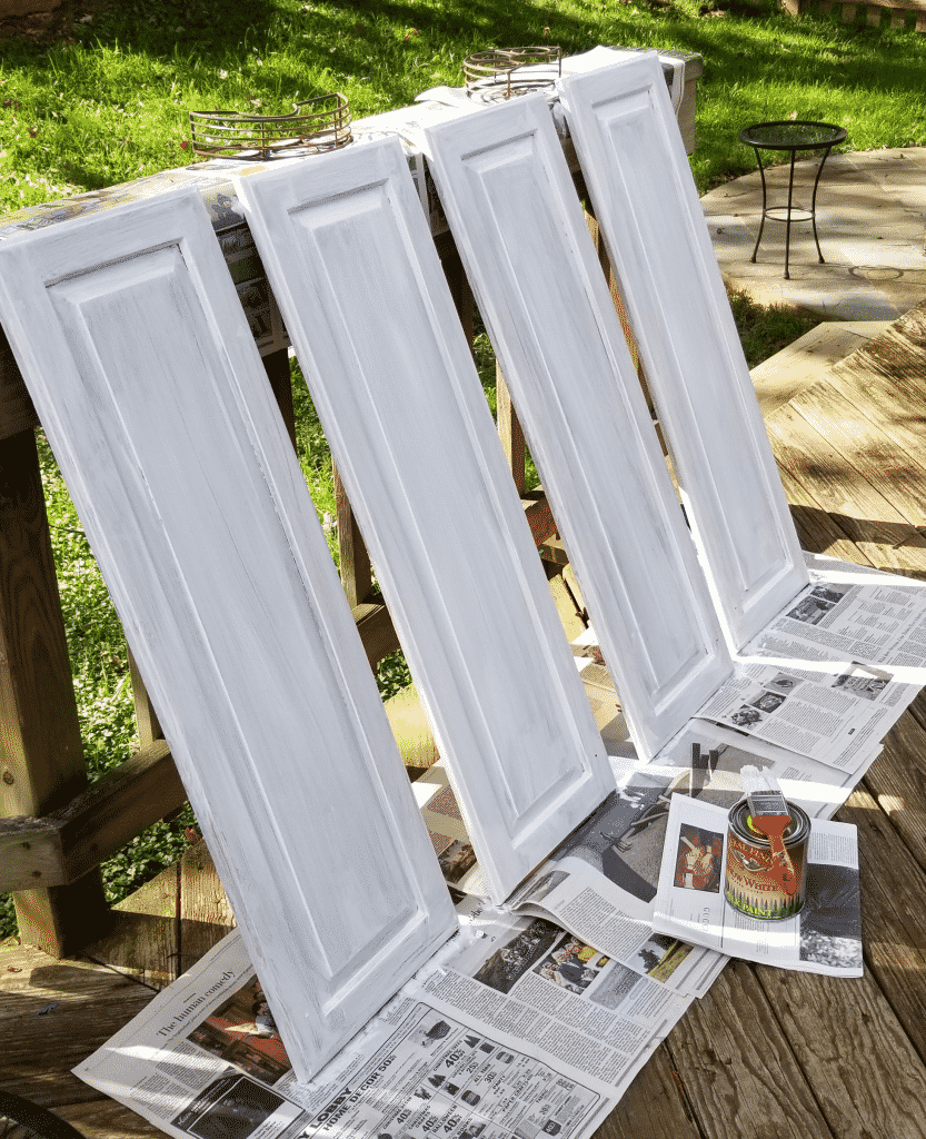 cabinet doors with one coat of paint