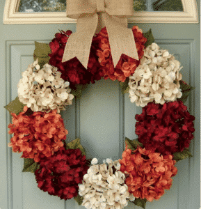 Etsy Fall Hydrangea Wreath