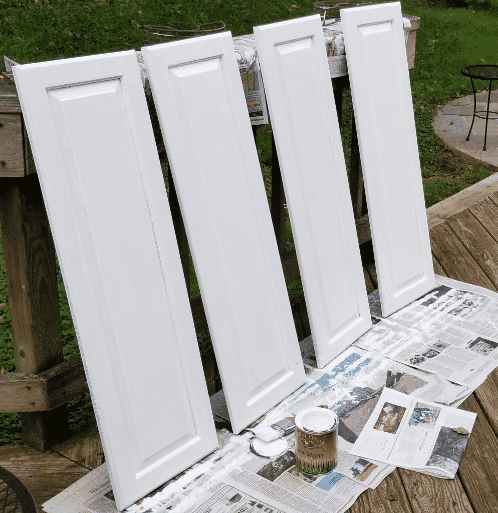 third coat of paint on doors