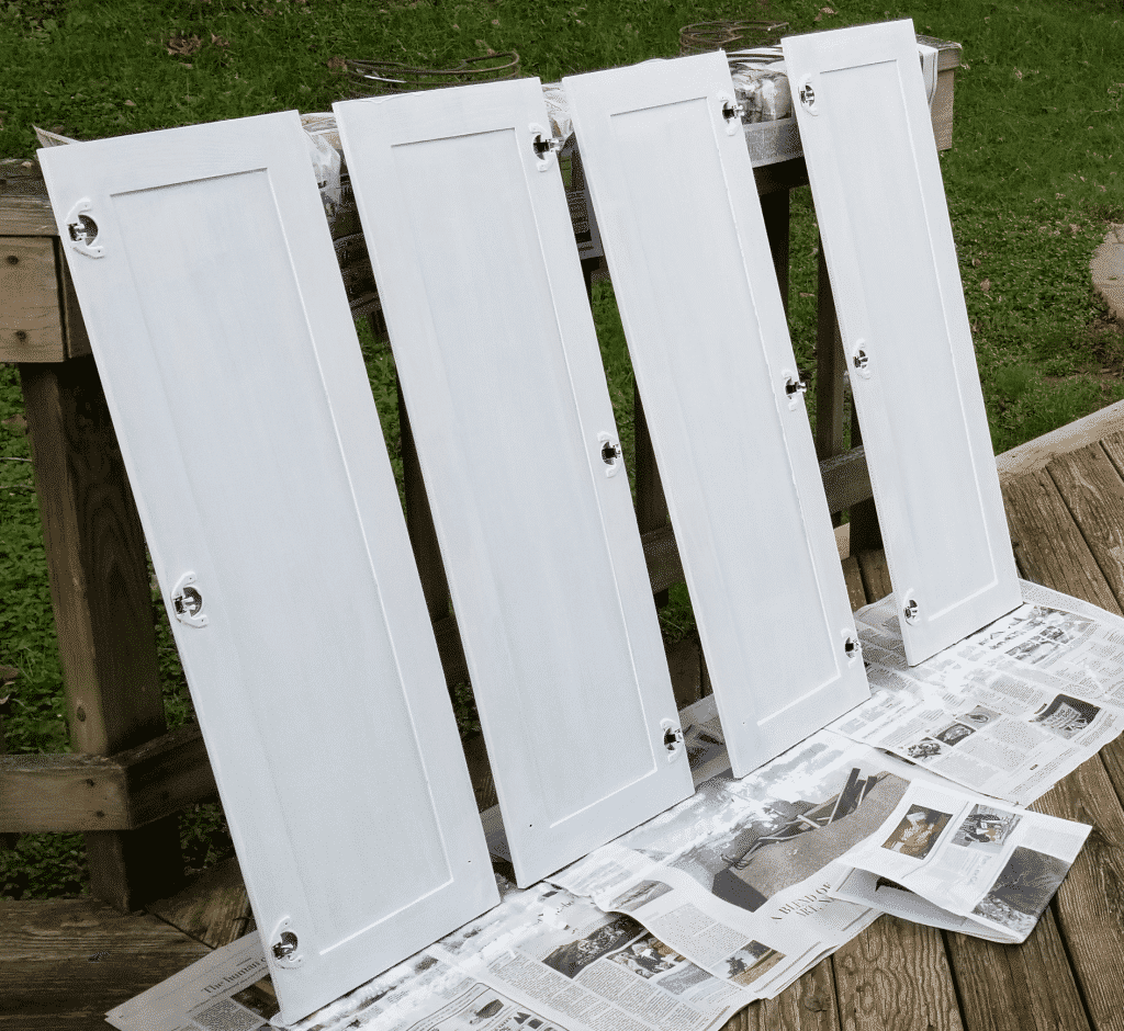 second coat of paint backs of doors