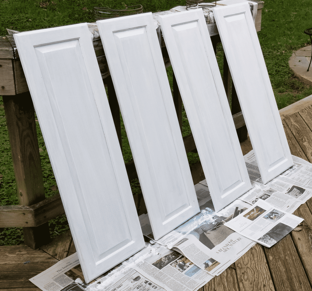 second coat of paint fronts of doors