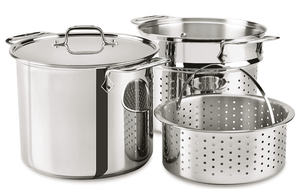 All-Clad Stainless Steel Multicooker with Perforated Steel Insert and Steaming Basket