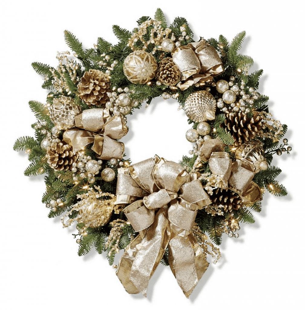 "Frontgate Gilded Elegance 30"" Wreath"