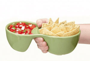 Ooma Individual Serving Chips and Salsa Bowl