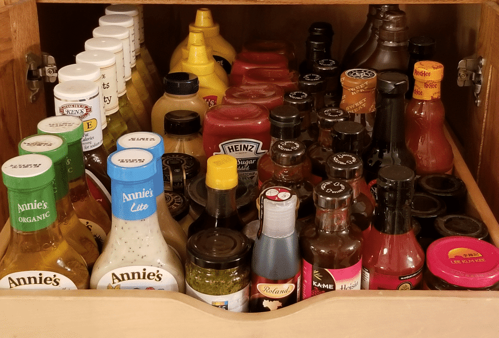condiment drawer of pantry