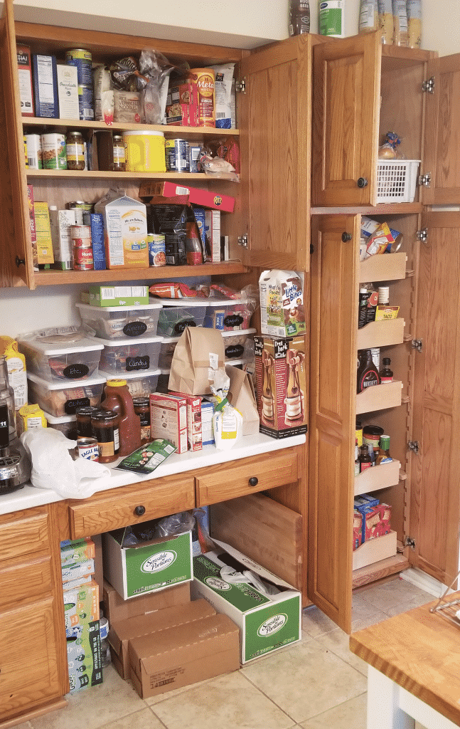 Before picture of pantry