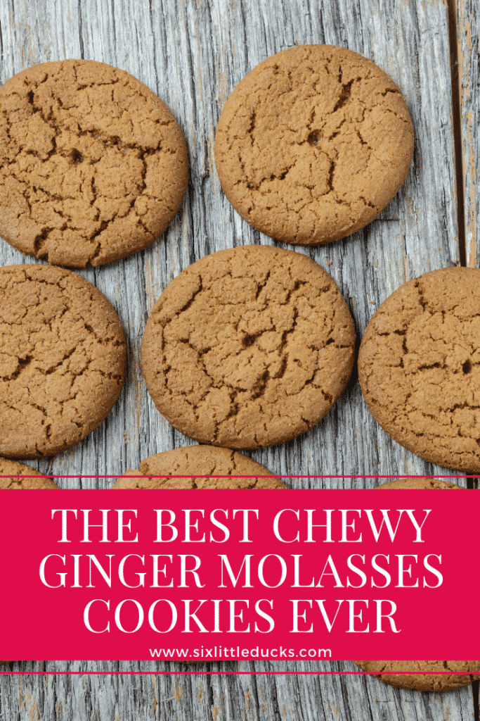 The Best Chewy Ginger Molasses Cookies Ever