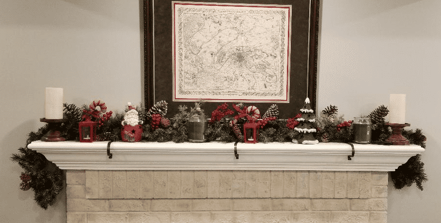 a mantel fit for santa