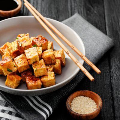 Baked Bang Bang Tofu