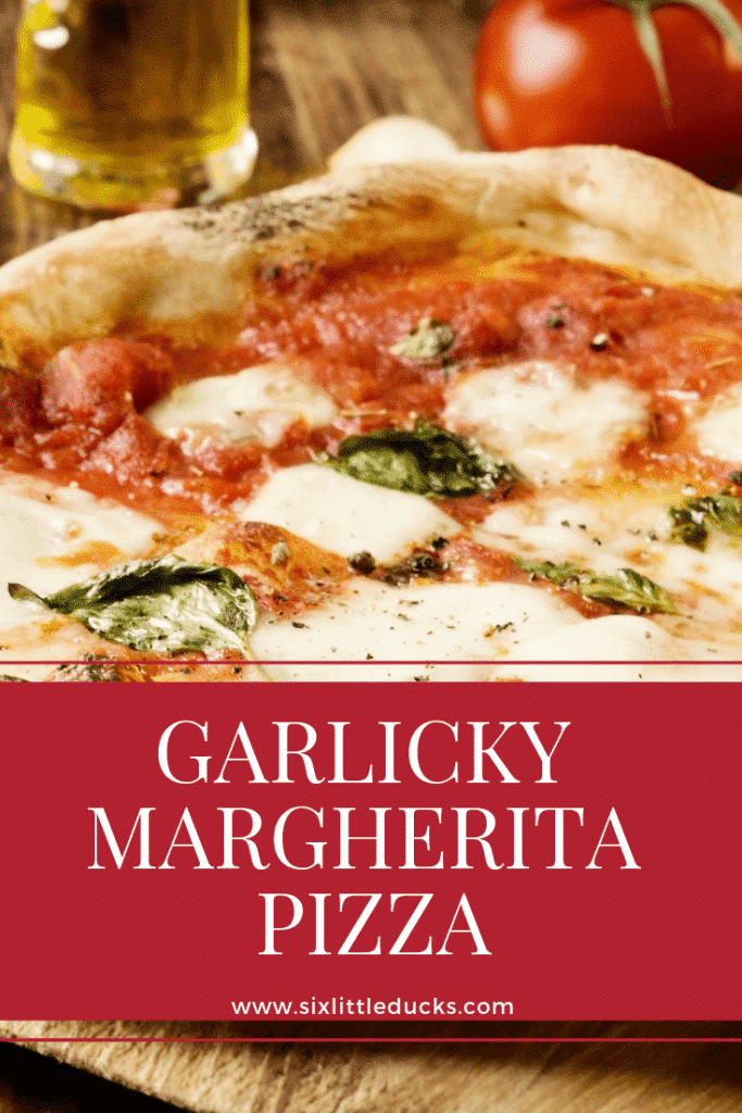 Garlicky margherita pizza