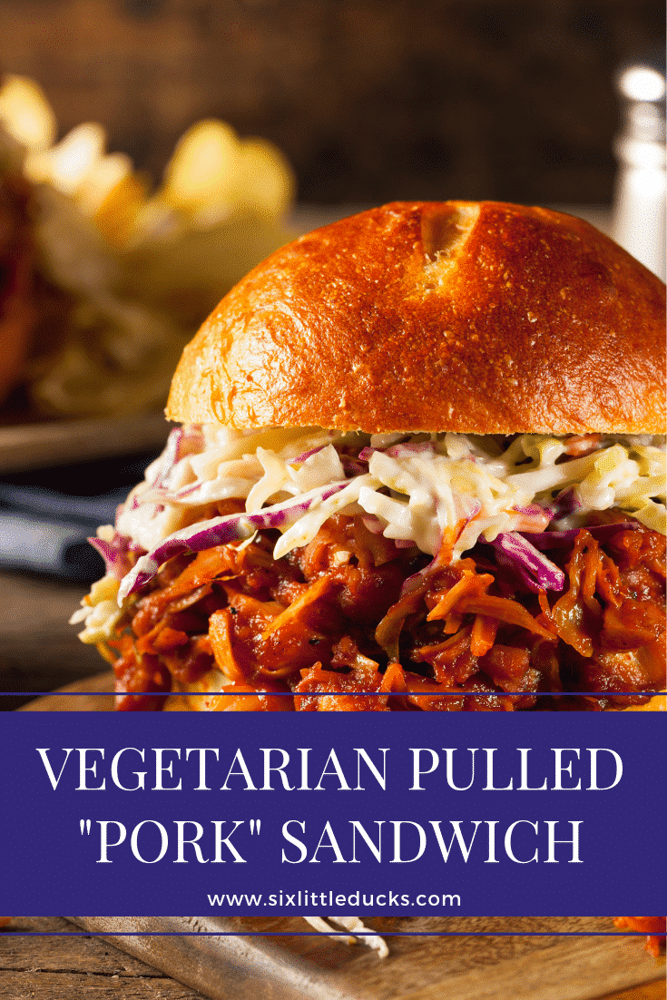 "Vegetarian Pulled ""Pork"" Sandwich"