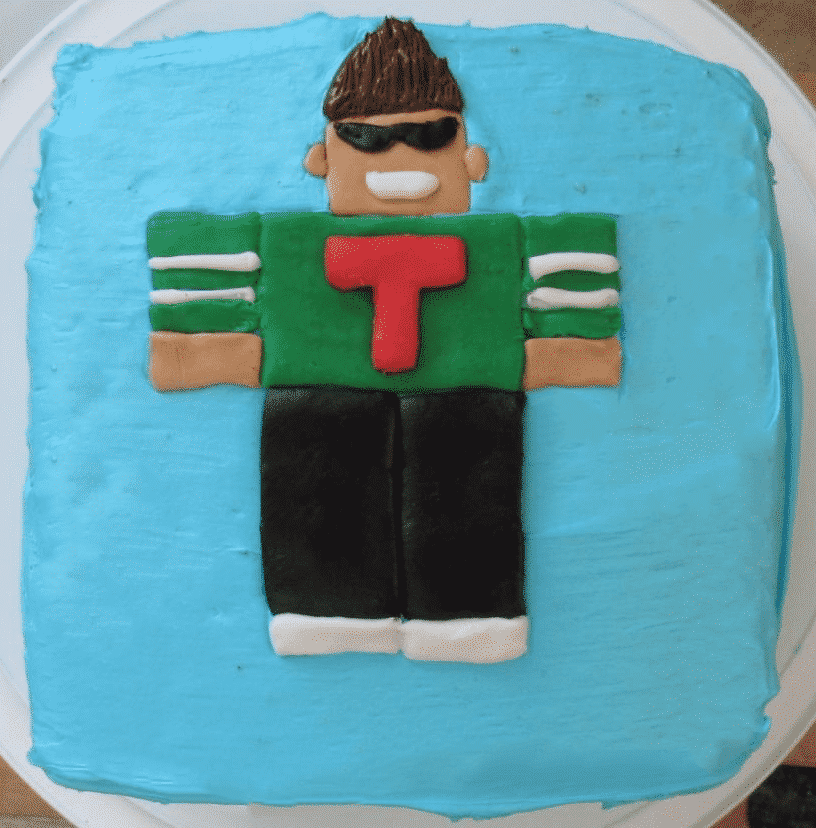 Cookie Man Roblox Easy Roblox Birthday Cake Six Little Ducks