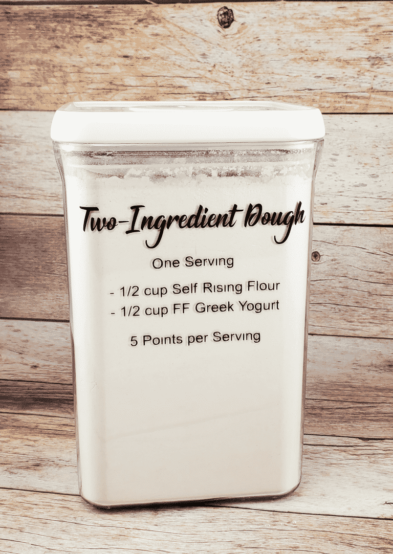 Customized Containers: Two Ingredient Dough