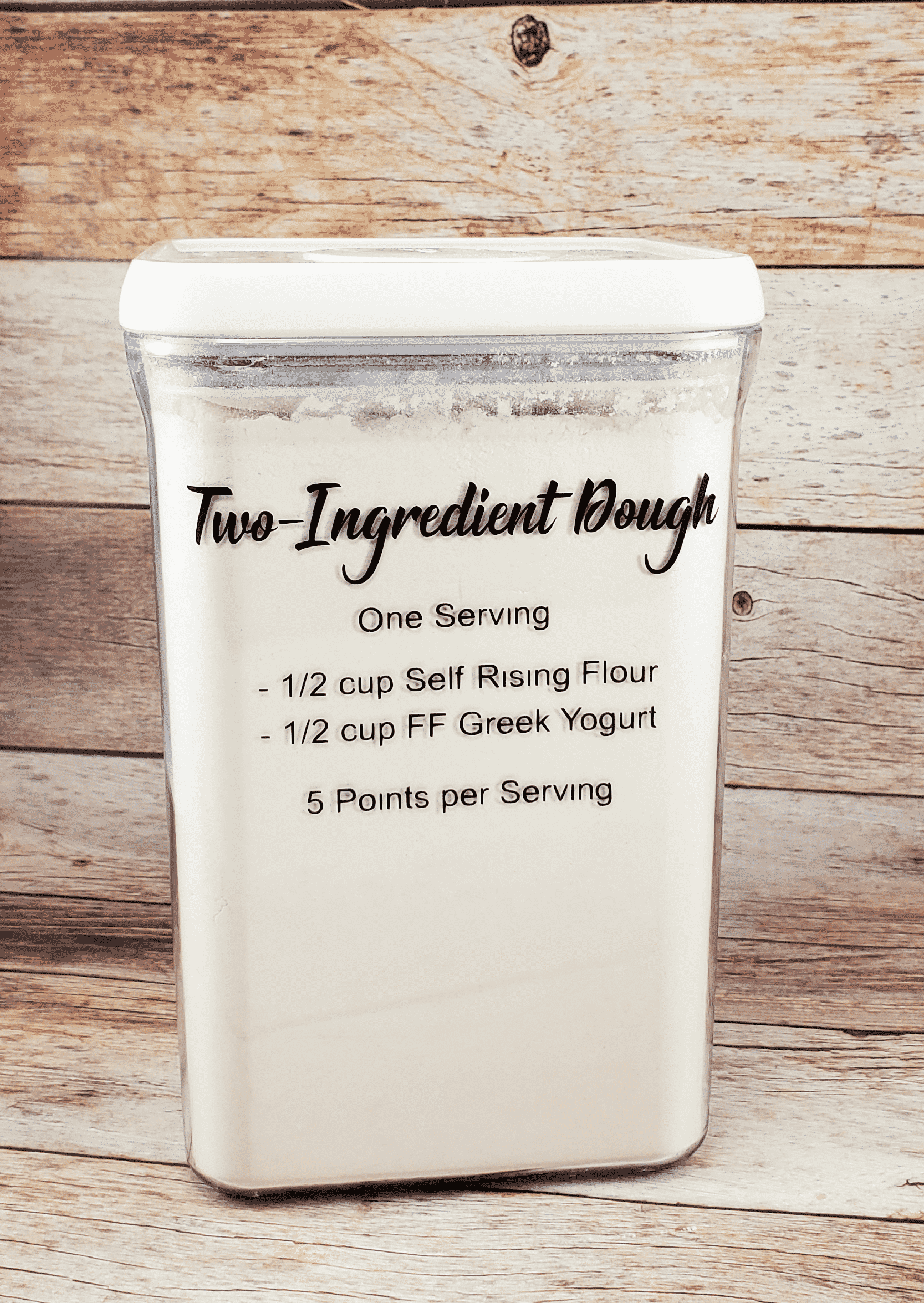 Final two ingredient dough container