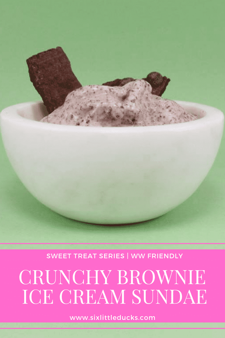 Bowl of Crunchy Brownie Ice Cream Sundae