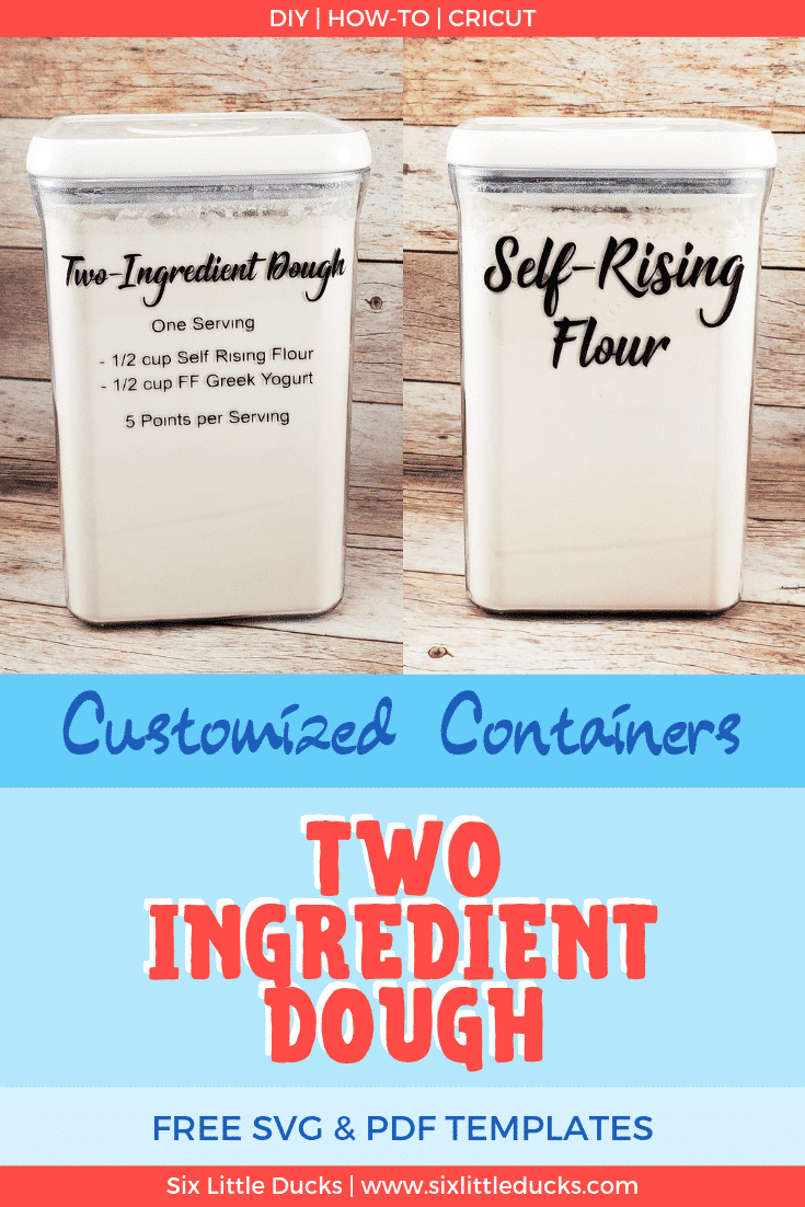 two containers one with self rising flour the other with two ingredient dough recipe