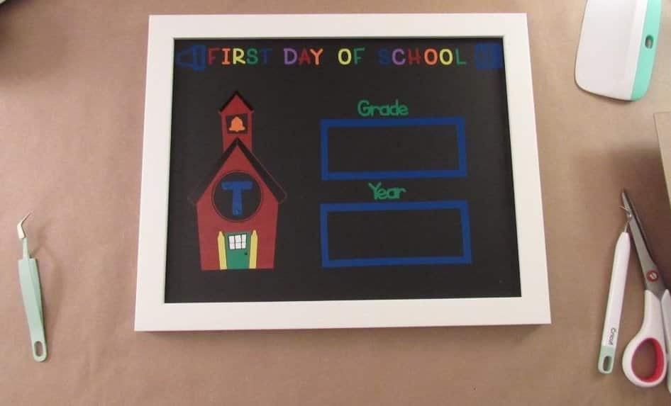 Finished First Day of School Sign