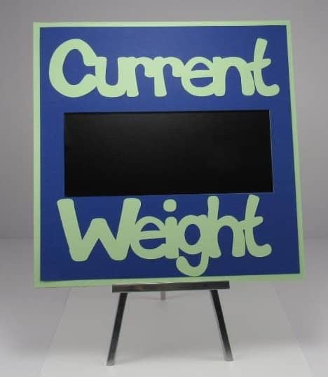 Completed Weight Loss SIgn