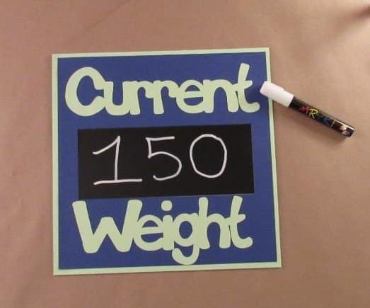 Make Your Own Current Weight Sign