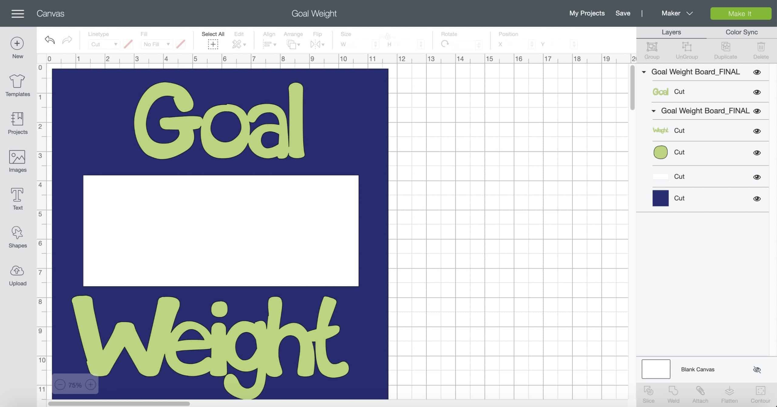 Goal Weight Sign SVG