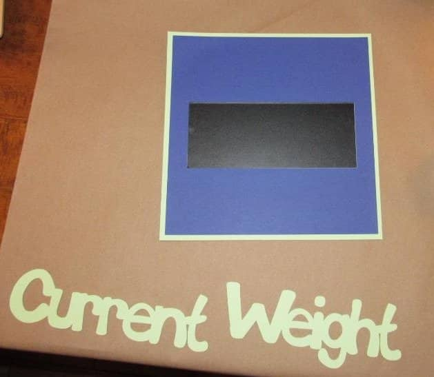 Assembling the Current Weight Sign