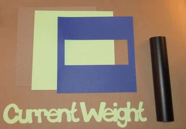 DIY Current Weight Sign