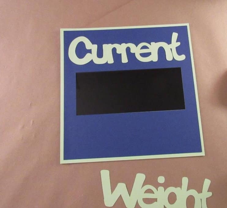 Assembling the Weight Loss Sign